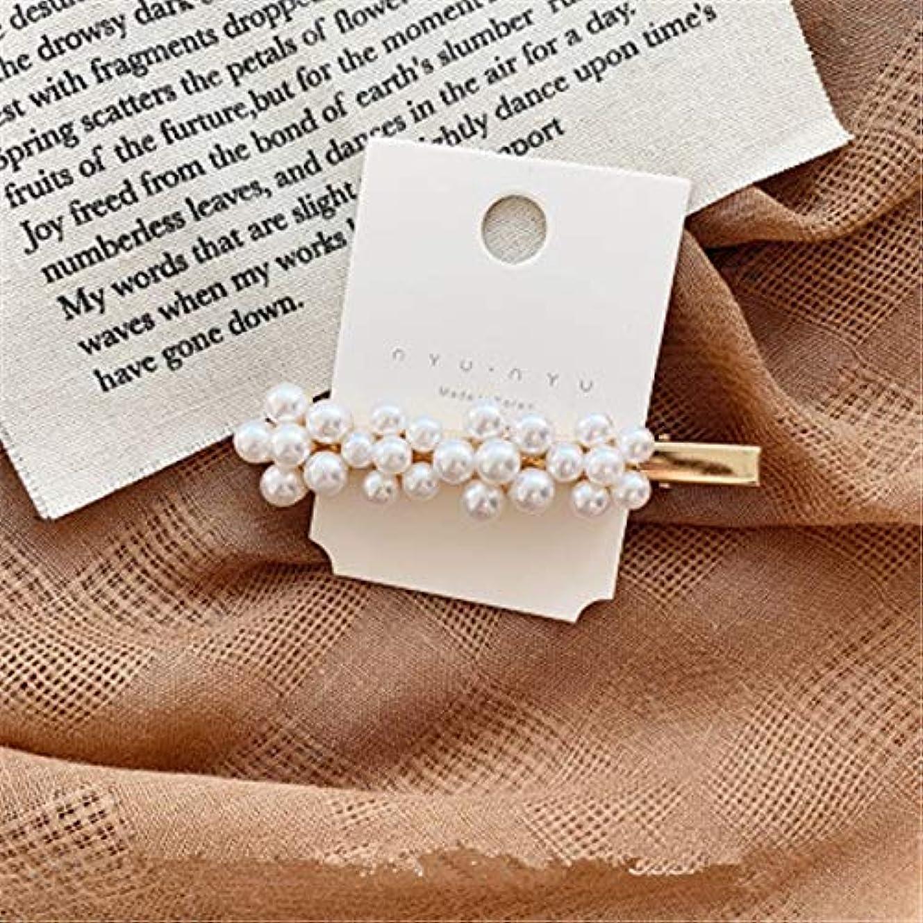 栄光の透けるクーポンHairpinheair Yhm模造真珠の花ヘアピンヴィンテージロングバレットヘアクリップクリスタルメタルヘアアクセサリーヘアグリップ (色 : Color3)