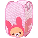 Wei Long Cute Foldable Laundry Toys Tidy Clothes Socks Basket Storage Bag (Pink PP Bear)