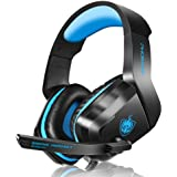 PS4 Xbox One Gaming Headset for Headphone Noise Cancelling Over Ear Headphones with Microphone LED Light Bass Surround for PS