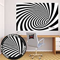 3D black and white tunnel wall paper by Great Art 55 Inch x 39.4 Inch [並行輸入品]