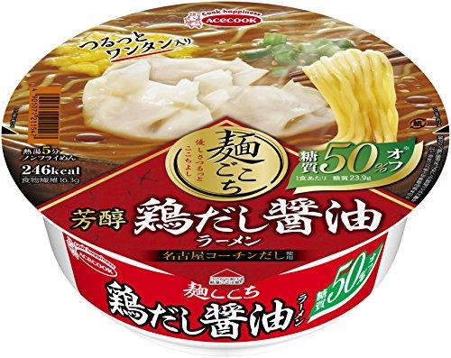 エースコック 麺ごこち 糖質50%オフ 芳醇鶏だし醤油ラーメン 84g×12個