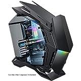 JONSBO MechWarrior MOD-3 ゲーミングコンピューターケース XL-ATX マザーボード 360mm 液体クーラー フロントパネル 5V ARGB 照明 USB 3.0 x 2 (ブラック)