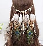髪飾り 羽 インディアン風 ボヘミア