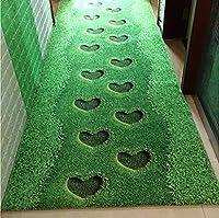 廊下の敷物、ホテルの通路階段の緑の愛の敷物、家のリビングルームベッドルームのベッドサイドの滑り止めのカーペット (サイズ さいず : 1.2M*3M)