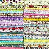 綿 プリント生地 四角形シリーズ 25枚セット DIY縫う手作りの布地 12×12インチ 30×30㎝