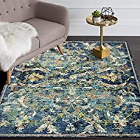 LR Home GALAC81273NAM80A0 Gala Collection Area Rug 8' x 10' Navy Multi [並行輸入品]