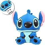 Novelty Stitch Blue Shape Design 64GB USB 3.0 Flash Drive Cute Memory Stick Stitch Thumb Drive Data Storage Pendrive Cartoon