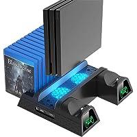 PS4スタンド PS4 縦置きスタンド OIVO PS4 コントローラ充電スタンド2台 PS4/PS4 Pro/Slim…