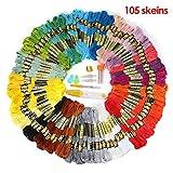 KING DO WAY 刺繍糸 35色 105束 刺しゅう糸 刺しゅう針 クロスステッチ 刺繍 手芸 編み物