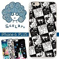スカラー/50070/スマホケース/スマホカバー/iPhone6Plus/アイフォン/モノクロ 女性の顔 かわいい ファッションブランド