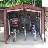 アイリスプラザ サイクルハウス 自転車 3台用 ダークブラウン ACI-3SBR 画像