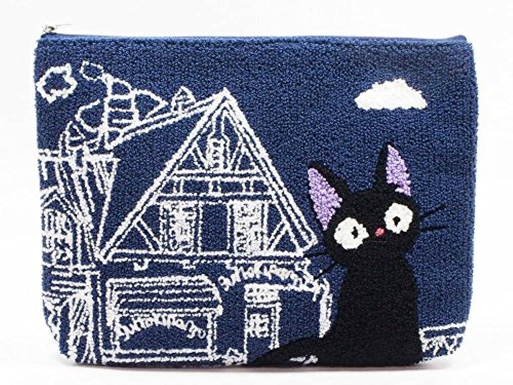 スタジオジブリ 魔女の宅急便 相良刺繍ポーチ ジジ 店番