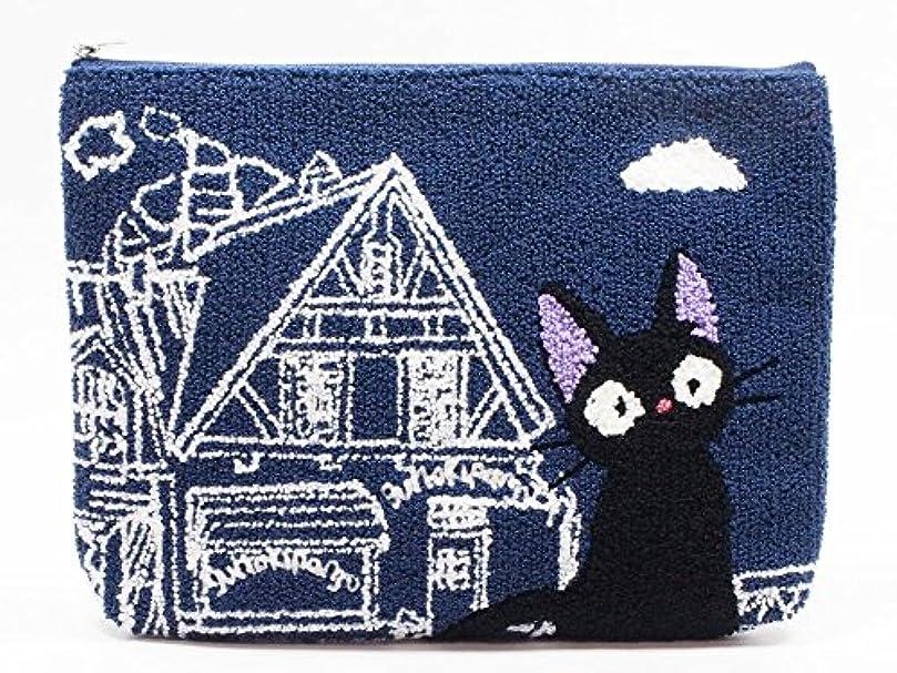 心のこもった驚いたことにホバースタジオジブリ 魔女の宅急便 相良刺繍ポーチ ジジ 店番