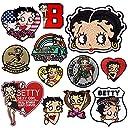 ベティー ブープ キャラクター ワッペン 刺繍 アイロン接着 Betty Boop アメリカン ベティちゃん アップリケ 手芸 正規品 (4★BBW-006)