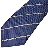 [ソリッド]solid ネクタイ メンズ 幅 7cm ナロータイ ビジネス カジュアル 柄 青 ブルー 白 ライン solid-