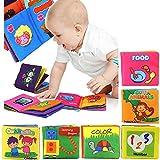 赤ちゃん 幼児 子供 動物 数字 色 形 役 食べ物 玩具 英語 布の絵本 布絵本 さわって発見 あそび 知育玩具 6本