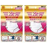 【セット品】三次元 高密着マスク すこし小さめ女性用 5枚入 PM2.5対応【×2個】