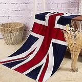 【Amateras】バスタイム まで おしゃれに!バスタオル 国旗 ユニオンジャック デザイン アメリカ イギリス 英国 星条旗 カナダ コットン タオル 140×70cm 国旗 【MT199】 (イギリス)