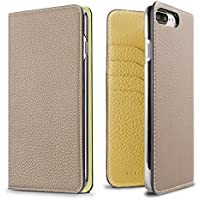 BONAVENTURA ボナベンチュラ iPhone 8/7 Plus ケース German レザー [iPhone 8/7 Plus | グレージュ×イエロー]