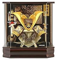 五月人形 兜ケース飾り 兜飾り 藤翁作 六角翔寿 アクリルケース h025-fn-175-722