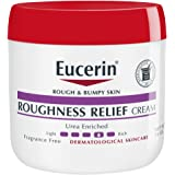 Eucerin Roughness Relief Cream - Smooth Rough and Bumpy Skin - 16 oz. Jar