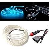 MaxLax Ice Blue El Wire 9ft for Automotive Car Interior Decoration, 12V Auto Car Neon Wire Light/Glowing Electroluminescent W