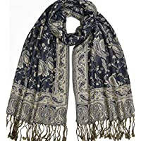 Duolan Reversible Paisley Pashmina Scarfs for Women,Silky Lightweight Rave Cashmere Feel Scarf Shawl and Wrap