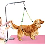 Pet Grooming Table Rope Adjustable Pet Grooming Leash Neck and Haunch Holder Dog Grooming Loop Set for Small/Medium dogs