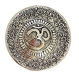 インド チベット香炉 お香立て インセンスバーナー (梵字 / オム.aum)