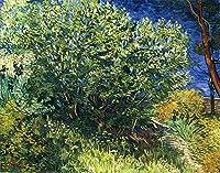 手描き-キャンバスの油絵 - Lilac Bush フィンセント・ファン・ゴッホ 芸術 作品 洋画 ウォールアートデコレーション VVG3 -サイズ13