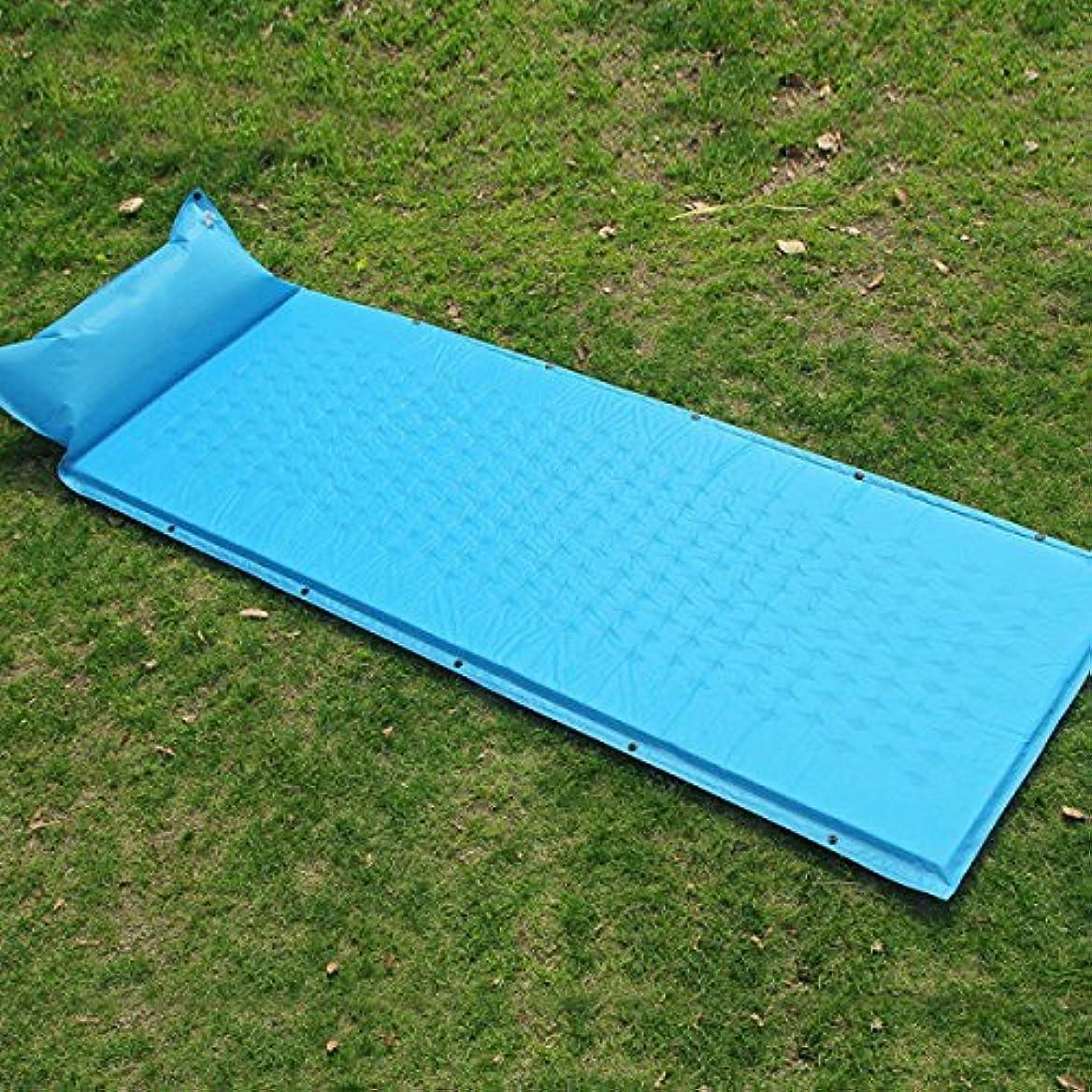 削るインディカシェルポータブルステッチできるSINGOLO Fast Inflate中ハイキングInflatable Sleeping Pad 190*65*2.5cm 23568