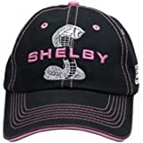 Womens Shelby Super Snake Black with Pink Cap Hat | Officialy Licensed Shelby Product | Adjustable, One-Size Fits All