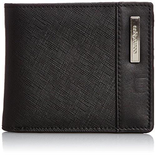 [クレージュ] Courreges courrèges(クレージュ) カード入れつき 本革二つ折り財布 メタルプレート付 メンズ CU-AF010NT CU-AF010NT BK (ブラック)