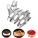 6 Pieces Muffin Tart Rings, Double Rolled Crumpet Bread Rings Professional Stainless Steel Cake Muffin Mold Rings Metal Round