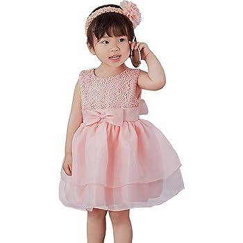 f9ac99dffa88e 「Bidear」子供ドレス ベビードレス キッズドレス 女の子 フォーマルワンピース 袖なし 髪飾り