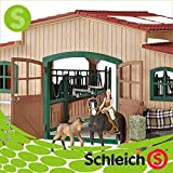 Schleich シュライヒ社フィギュア 42103 厩舎プレイセット Horse stable with accessories