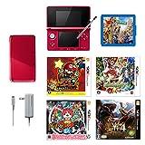 【セット商品】【スターターセット】ニンテンドー3DS本体 メタリックレッド + ソフト(5点パック) + カードポケット