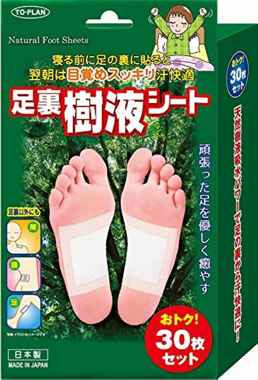 インチ水没早めるTO-PLAN(トプラン) 足裏樹液シート 30枚入