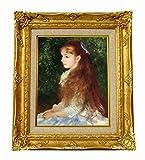 世界の名画 ルノワール イレーヌ嬢の肖像 ジークレーキャンバス複製画 豪華額装品