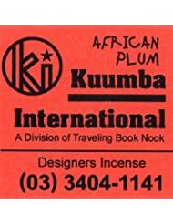 KUUMBA / クンバ『incense』(AFRICAN PLUM) (Regular size)