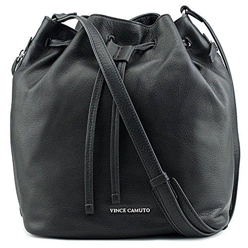 (ヴィンス カムート) Vince Camuto Gabe Drawstring Bag レディーズ ブラック ホーボー [並行輸入品]
