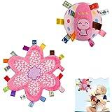 女の赤ちゃんのためのTagコンフォートセキュリティブランケットギフトセットとINCHANTソフトぬいぐるみラトルボールのおもちゃ