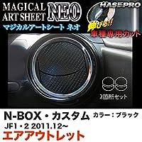 ハセプロ MSN-AOH3 N-BOX・カスタム JF1/JF2 H23.12~ マジカルアートシートNEO エアアウトレット ブラック カーボン調シート