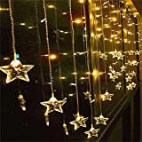 Angelbubbles 2M x 1M 104球 室内装飾 クリスマスツリー、ワードローブ、結婚式、学園祭、ガーデンパーティー、フェンス、パティオ イルミネーション 飾りスター LED星イルミネーションライト Home Led (イェロー 104球 )