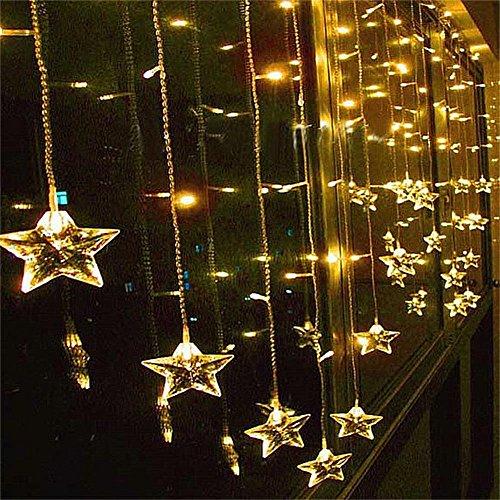 RoomClip商品情報 - Angelbubbles 2M x 1M 104球 室内装飾 クリスマスツリー、ワードローブ、結婚式、学園祭、ガーデンパーティー、フェンス、パティオ イルミネーション 飾りスター LED星イルミネーションライト Home Led (イェロー 104球 )