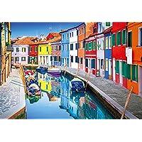 300ピース ジグソーパズル カラフルな街並み 七色の街ブラーノ-イタリア (26x38cm)