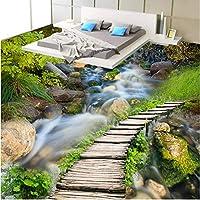 Wuyyii 大型カスタムフローリングクリーク木製ブリッジ裸眼リビングルームの寝室肥厚床Infantil-280X200Cm