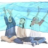 Across(アクロース)リトミック 大判シフォンスカーフ ジャンボスカーフ 140×220cm (水色)
