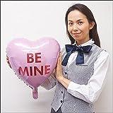 バレンタイン風船 カラフルキャンディハート ピンク BE MINE / バルーン  11307