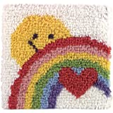"Caron P504 Natura Latch-Hook Kit, Sunshine Rainbow, 12"" X 12"""